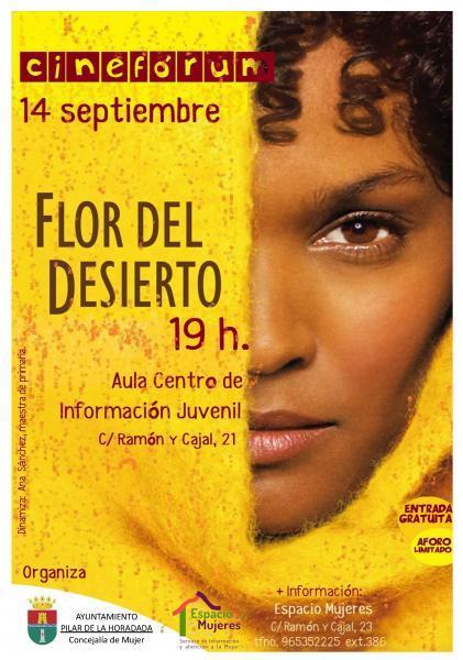 Cine Fórum: Flor del desierto en Pilar de la Horadada 2017