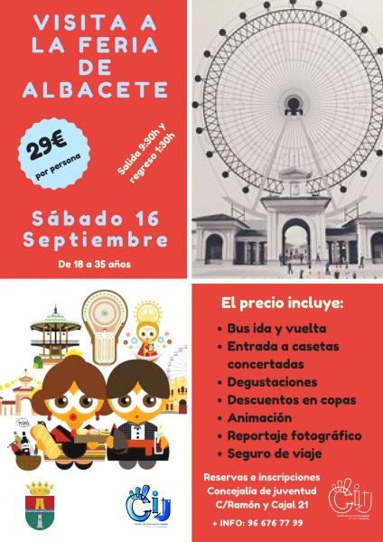 Visita a la Feria de Albacete para jóvenes de 18 a 35 años de edad en Pilar de la Horadada 2017