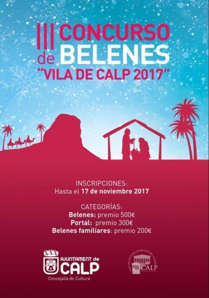 """Bases del III Concurso de Belenes """" Vila de Calp 2017"""""""