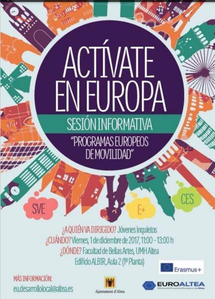Sesión informativa Actívate Europa
