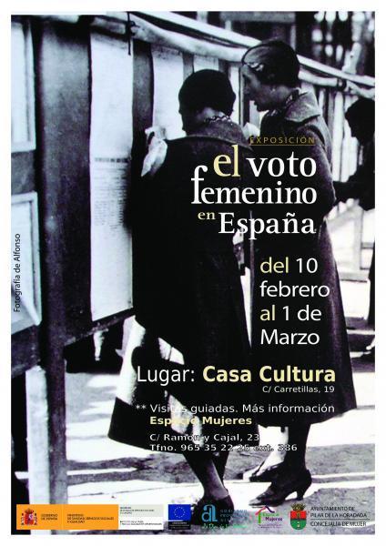 Exposición: El Voto Femenino en España en Pilar de la Horadada 2018