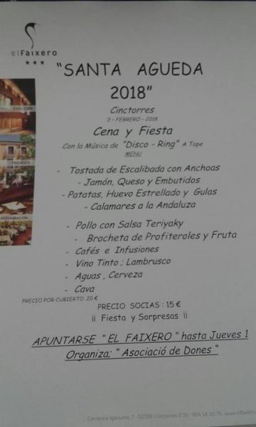 Festividad de Santa Águeda. Cinctorres 2018