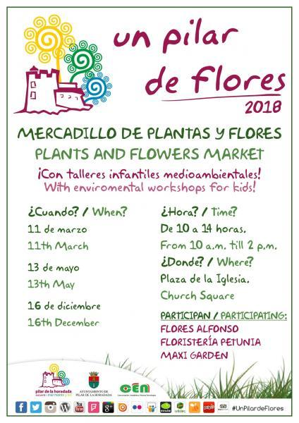 """Mercadillo de plantas y flores """"Un Pilar de Flores"""" 2018 en Pilar de la Horadada"""