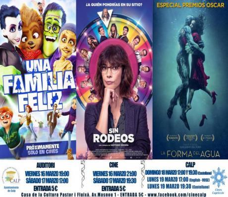 Cine Casa Cultura Calp 16,17,18 y 19 marzo