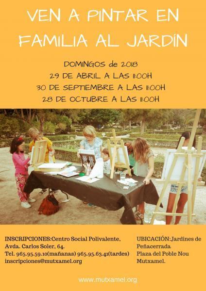 Ven a pintar en familia al jardín