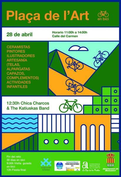 Plaza del arte y fin del reto 30 días en bici