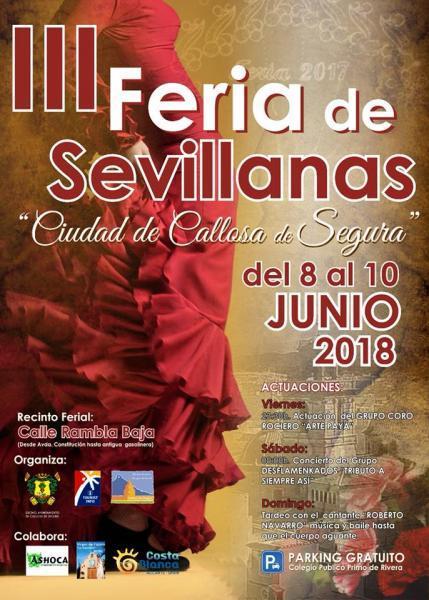 """III Feria de Sevillanas """"Ciudad de Callosa del Segura"""" 2018"""