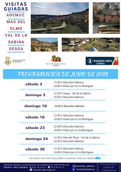 Programa de visitas guiadas a Ademuz y sus aldeas: JUNIO