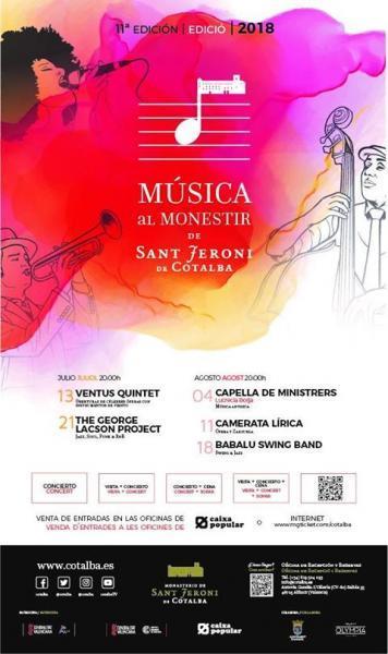 11ª Edición Música a Monestir de Sant Jeroni de Cotalba 2018
