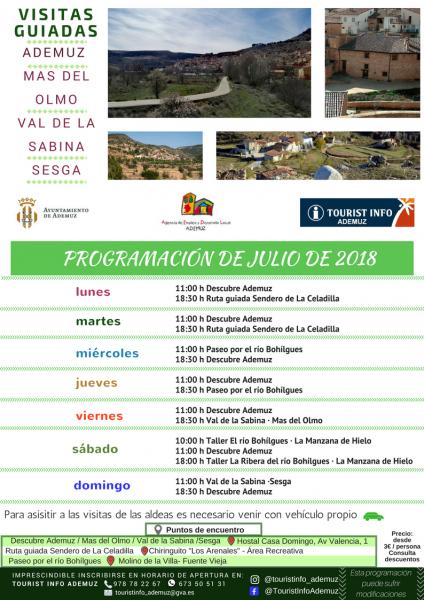 Programa de visitas guiadas a Ademuz y sus aldeas: JULIO