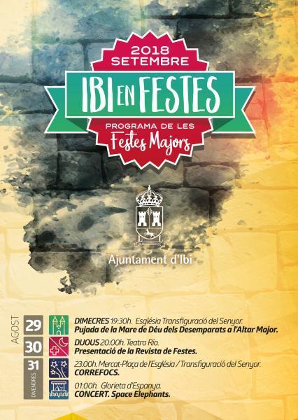 Programa de fiestas de Moros y Cristianos Ibi 2018