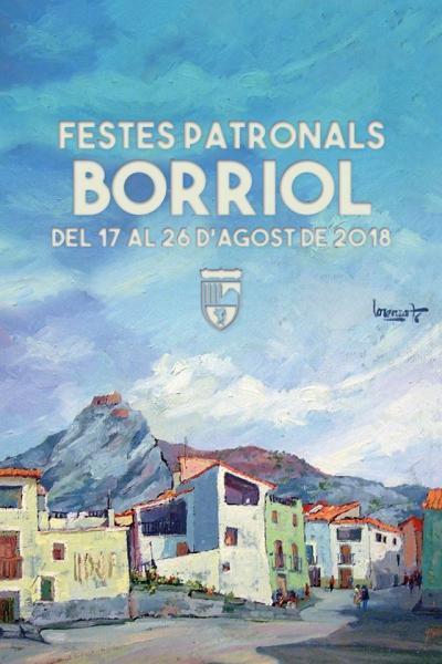 Programa de las fiestas patronales de Borriol en honor a San Bartolomé y San Roque