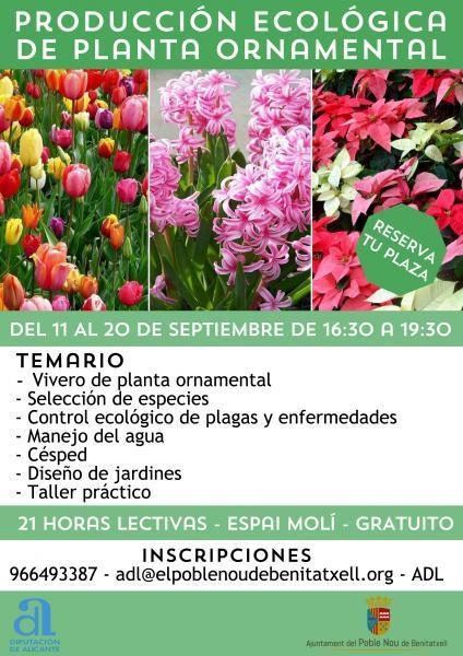 Curso de producción ecológica de planta ornamental