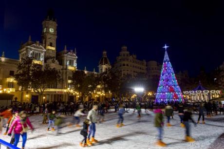 Weihnachtspläne in der Stadt Valencia