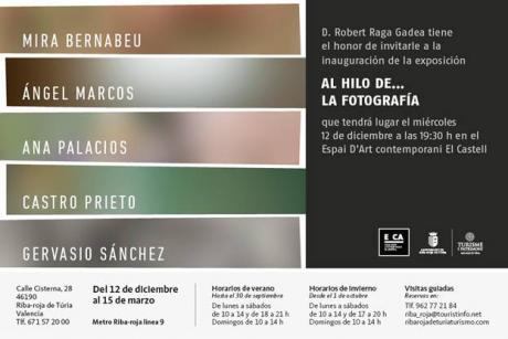 """Inauguración de la exposición """"Al hilo de... La fotografía"""" en el E CA"""