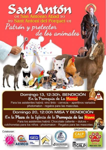 """""""San Antón"""" Patrón y Protector de los Animales."""