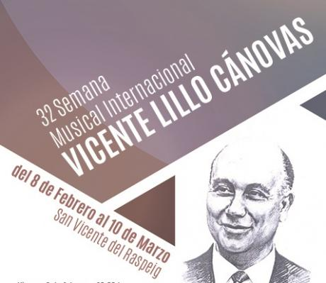 32 Semana Musical Internacional Vicente Lillo Cánovas. San Vicente del Raspeig 2019