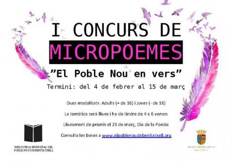 """I Concurso de Micropoemas """"El Poble Nou en vers"""""""