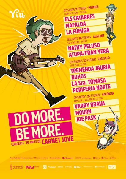 DO MORE BE MORE CONCIERTOS 30 AÑOS CARNET JOVE