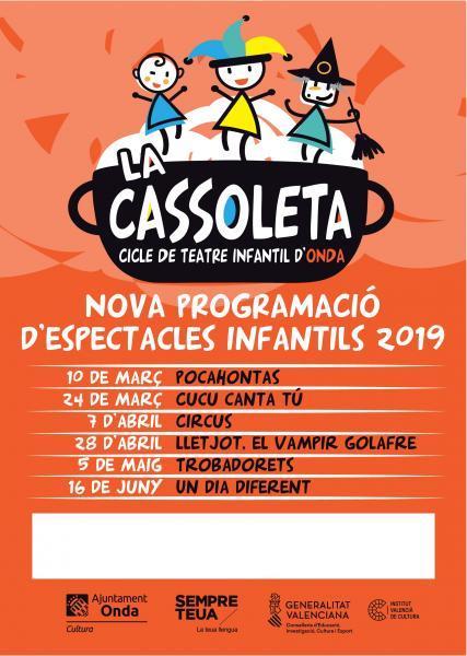 La Cassoleta- Cicle de teatre infantil d'Onda