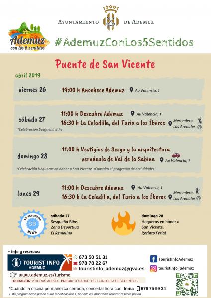 #AdemuzConLos5Sentidos PUENTE DE SAN VICENTE
