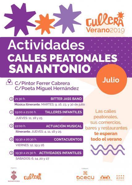 ACTIVIDADES CALLES PEATONALES SAN ANTONIO CULLERA