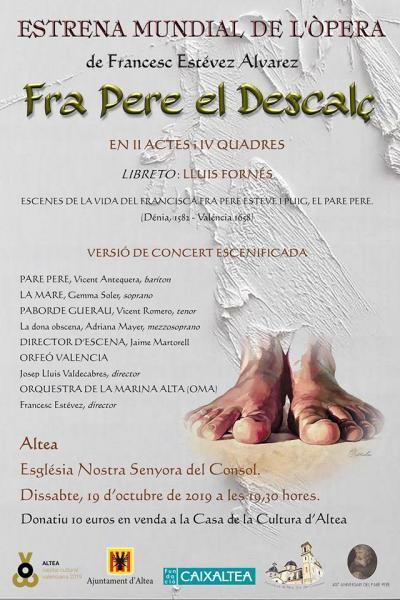 Ópera Fra Pere el Descalç en Altea