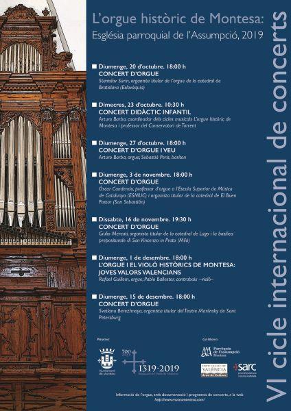 L'Orgue històric de Montesa: Esglesia Parroquial de l'Assumpció 2019
