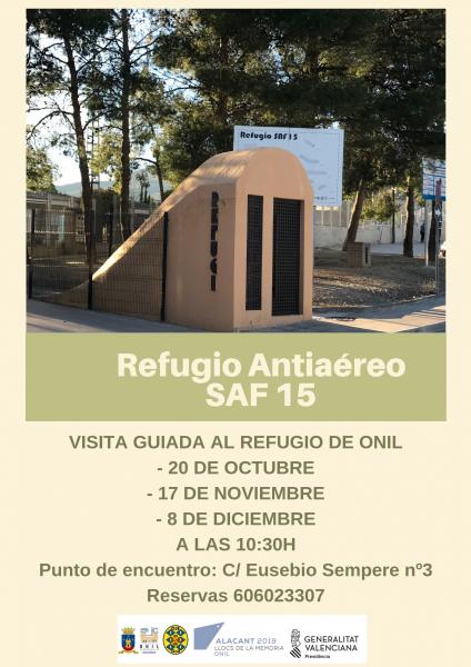 Visitas guiadas al Refugio Antiaéreo de Onil