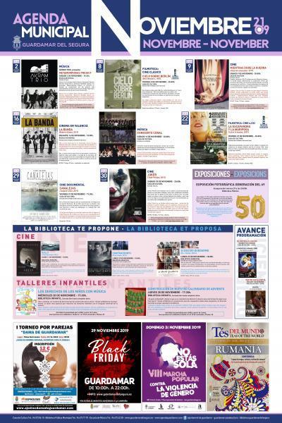 Agenda Cultural Guardamar Novembre 2019