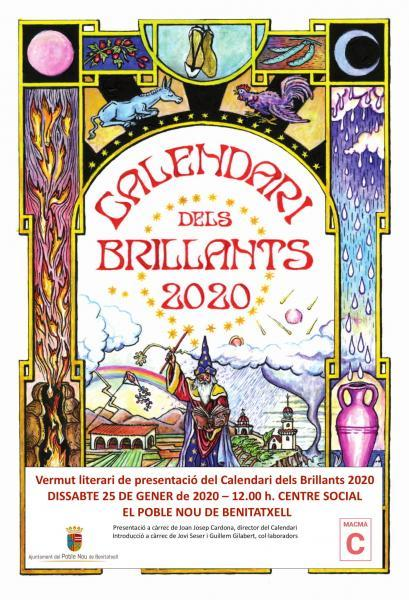 """Vermú literario: presentación """"Calendari dels Brillants 2020"""""""