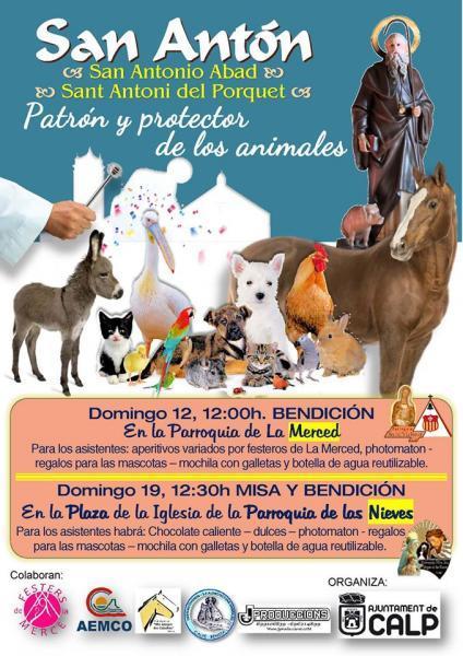 SAN ANTONIO ABAD. PATRÓN Y PROTECTOR DE LOS ANIMALES