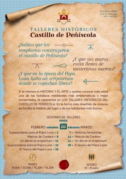 Talleres históricos en el Castillo de Peñíscola