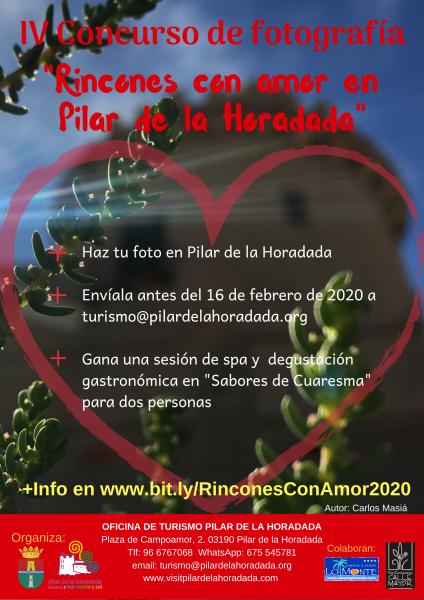 """IV Concurso de Fotografía """"Rincones con amor en Pilar de la Horadada"""" 2020"""