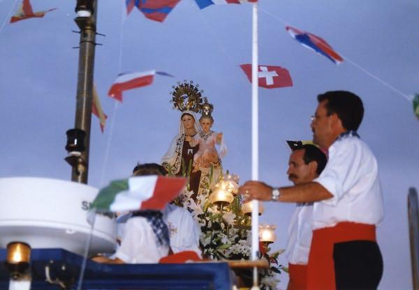 Feiern der Virgen del Carmen