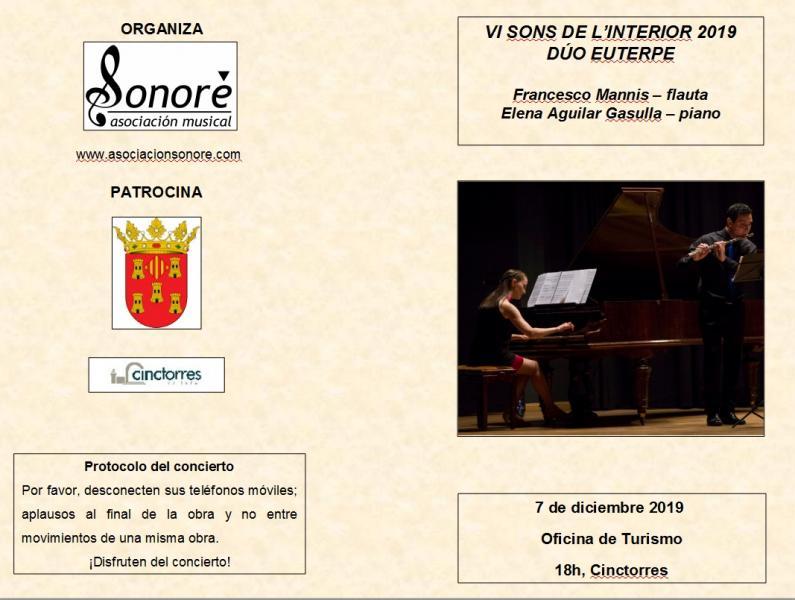 Concierto de Piano y Flauta. Cinctorres.
