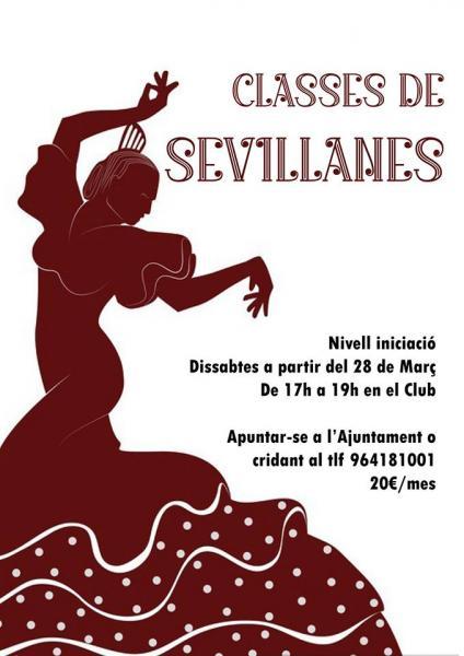 Clases de Sevillanas. Cinctorres