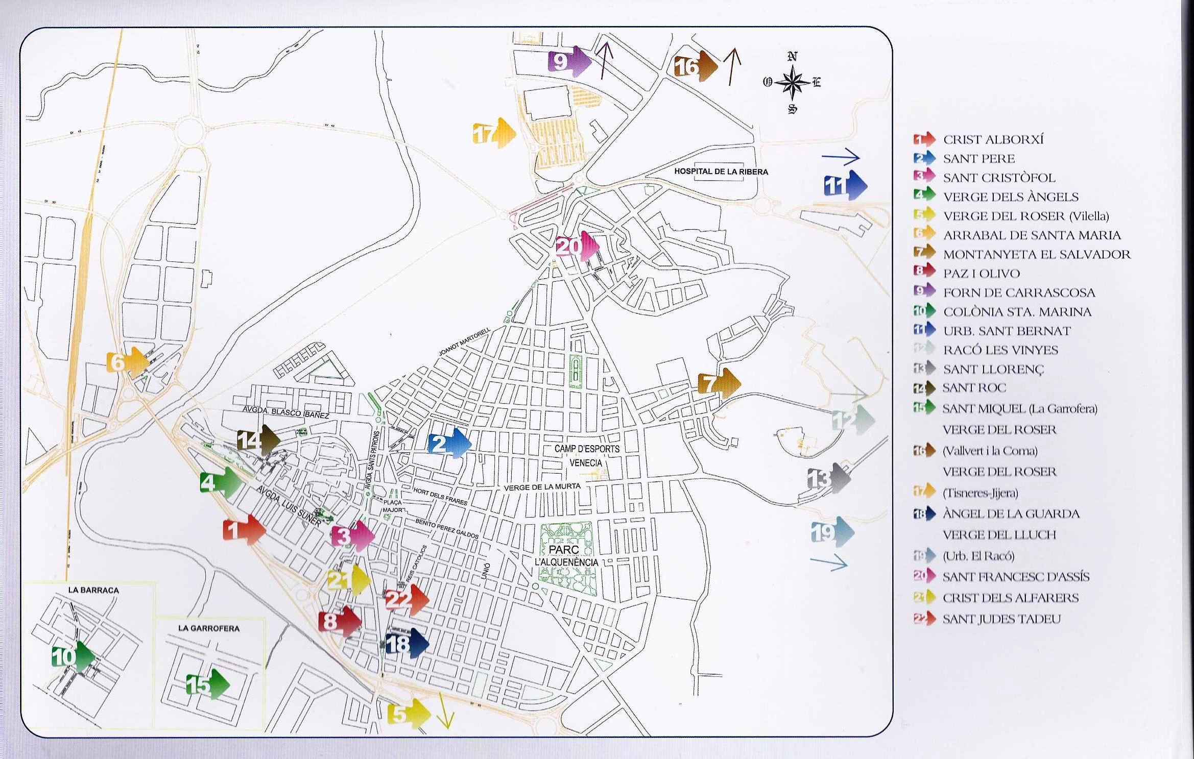 Fiestas de Barrios y Partidas en Alzira