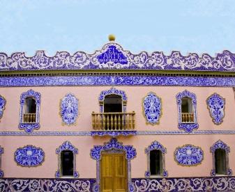 Façade of the old ceramic factory of Juan Bautista Huerta Aviñó, El Arte
