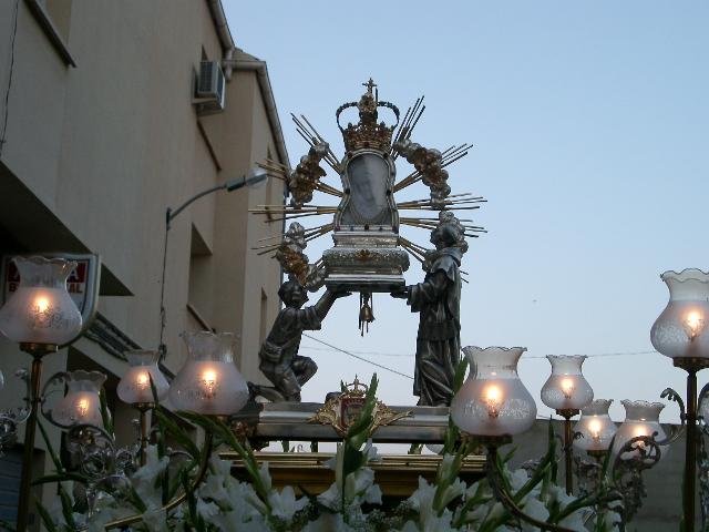 Virgen de Agosto, San Roque y la Divina Pastora