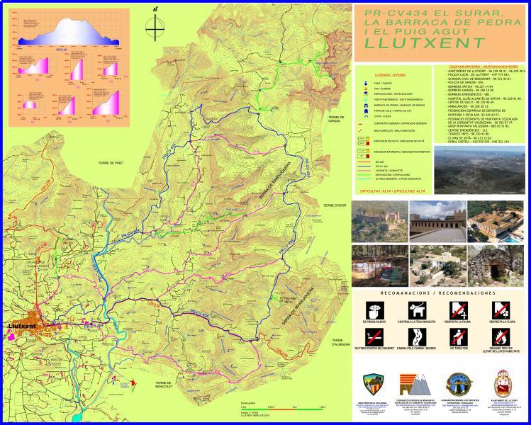 PR-CV-434 El Surar, La Barraca de Piedra y el Monte Agudo
